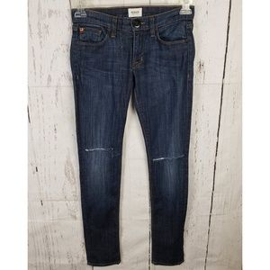 Hudson Colette Skinny Ripped Knees Jeans Sz 24
